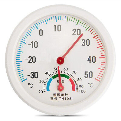 Thermometer Temperature Meter Hygrometer Humidity Clock-shaped Household