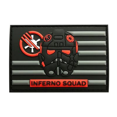Rubber Patch - Inferno Squad Star Wars Battlefront USA Flag Patch (3D-PVC Rubber-MINF1)