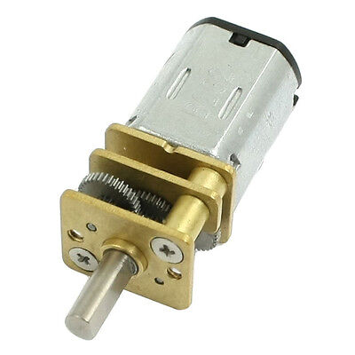 Dc 3v 30rpm Torque Geared Gearbox Gear Box Micro Electric Motor Silver Lw