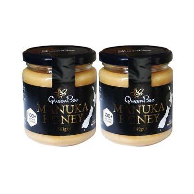 Queen Bee Original Zealand Manuka Honey 100+ Methylglyoxal Sealed 340g pack of 2