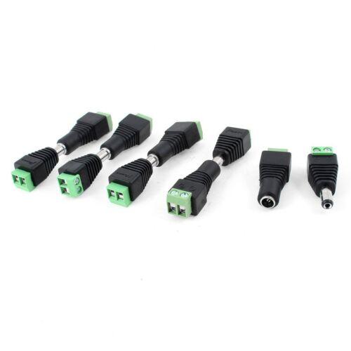 10 Pcs CCTV Cameras 2.1mm x 5.5mm Female Male DC Power Plug Adapter AD