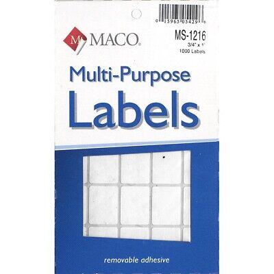 Maco Multi-purpose Labels 34 X 1-inch - 34 X 1 1000-count