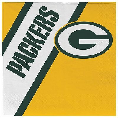 Green Bay Packers Disposable Napkins - 20 Pack [NEW] NFL Party Tailgate - Packers Tailgate Party