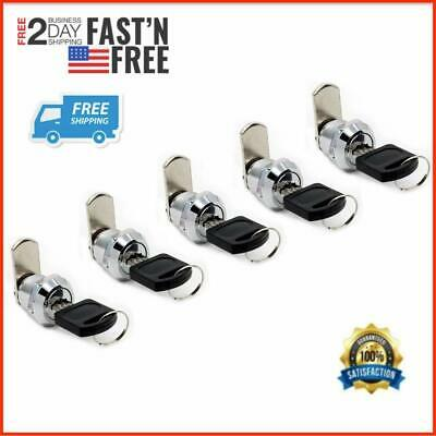 Lock Set Of 5 Tool Box Chest Key Storage Truck Safe Mailbox Cabinet Cylinder Usa