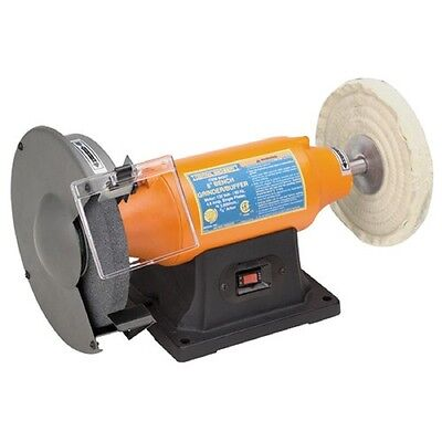 """NEW! 8"""" Wheel Buffing Bench Top Buffer & Grinder 3/4 HP polishing and grinding"""