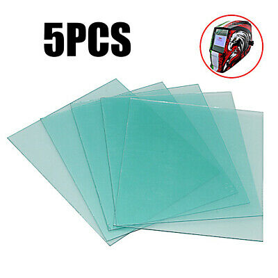 Lot Protective Lens 5pcs 133114mm Blue Plastic Cover Welding Helmet Sheet Pc