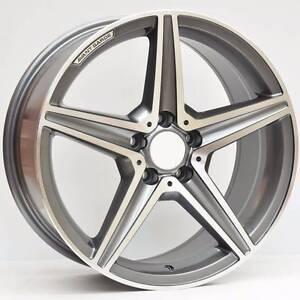 Mercedes wheels 18x8.5 Titanium Grey Machined M611 Murrumbeena Glen Eira Area Preview