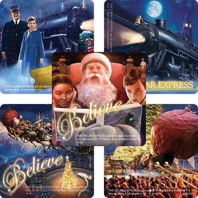Polar Express Stickers x 5 - Birthday Party Christmas Fun - Polar Express Movie - Polar Express Party Supplies