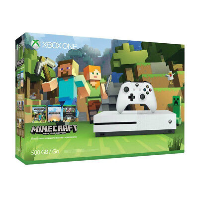 Microsoft Xbox One S Minecraft Favorites Tie up together 500GB White Console