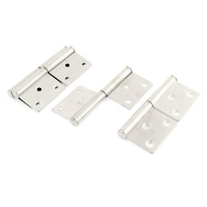 uxcell Cupboard Door 360 Degree Rotating 3 Inch Long Flag Hinges 8 Pcs