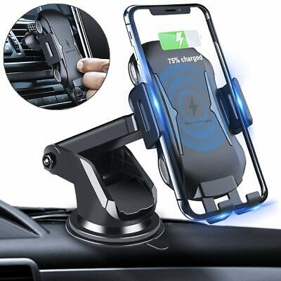 Qi Auto KFZ Handy Halterung Halter plus Wireless Ladegerät iPhone Samsung