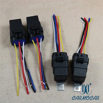 12v 4pcs 40 Amp Car Auto 5 Pinwire Relay Plug Socket Heavy Duty Waterproof