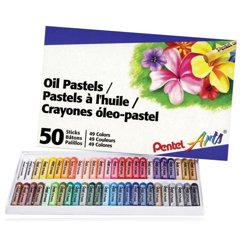Pentel Arts Oil Pastels - 50-Count  - 50-Count Set