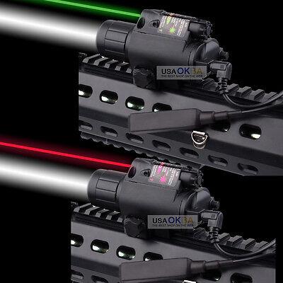 Tactical Combo Q5 LED Flashlight Green/Red Laser Sight Scope 20mm Picatinny Rail ()