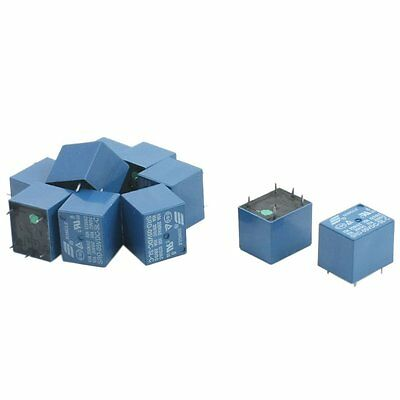 10Pcs SRD-05VDC-SL-C DC 5V Rating Coil SPDT Miniature Power Relay Blue