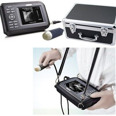 Us Vet Veterinary Medical Ultrasound Scanner Machine Handscan Animal Case Ship