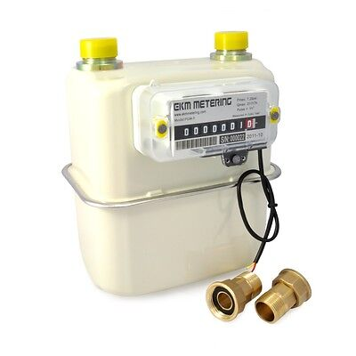 """3/4"""" Pulse Output Gas Meter - Measure Natural Gas, Propane LPG Use Remotely #40"""