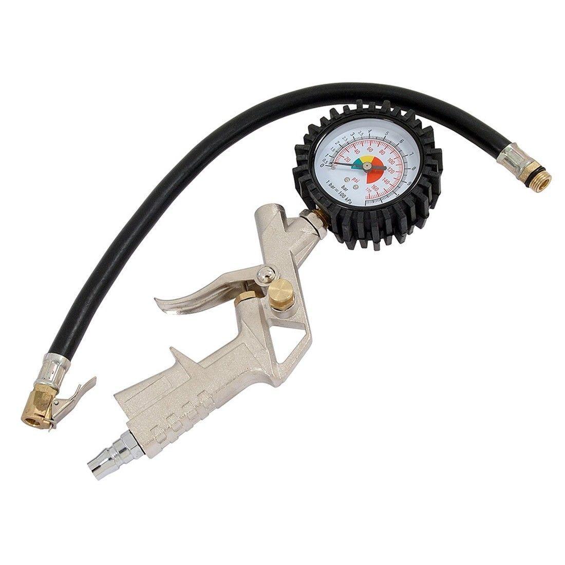 New 220psi Car Vehicle Bike Tire Tyre Inflator Gun Gauge Air Pressure Compressor Air Compressor Accessories