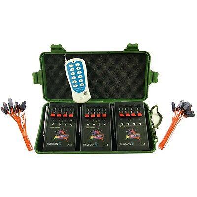 12Cue BILUSOCN Wireless Fireworks Firing system+24pcs Safety Igniters+party
