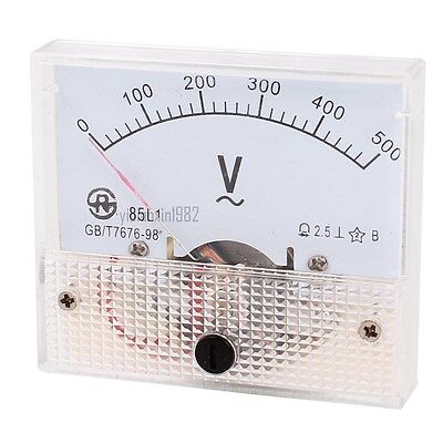 1pcs Ac 500v Analog Panel Volt Voltage Meter Voltmeter Gauge 85l1 Ac 0-500v 2.5