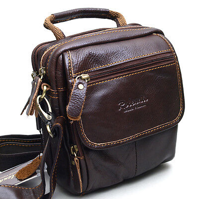 New Genuine Leather Mini Messenger Shoulder Bag Fanny Waist Wallet Purse-8868