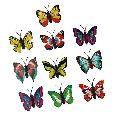 10 pcs 3D Magnetic Butterfly Fridge Home Room Wall Decor Decorative Sticker DIY