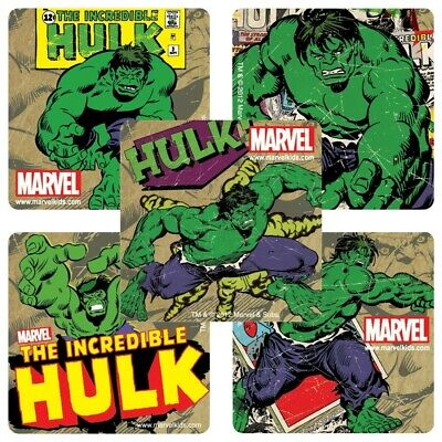 20 Incredible Hulk STICKERS Party Favors for Birthday Loot Treat Bags Avengers - Hulk Party Favors