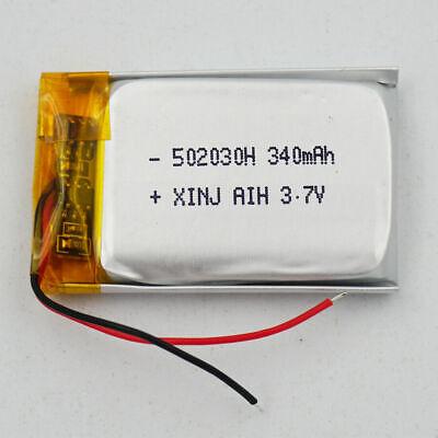 BATERÍA 502030 3.7V 340mAh LiPo 2 Cables teléfono bluetooth e-book GPS Dashcam★