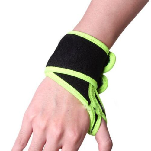 comfortable wrist thumb brace support protector wrap band elastic black green ebay. Black Bedroom Furniture Sets. Home Design Ideas