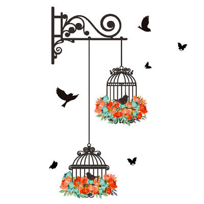 Drawing Wall Sticker Wall Decor Home Rustic Style Decorative Birdcage Decor