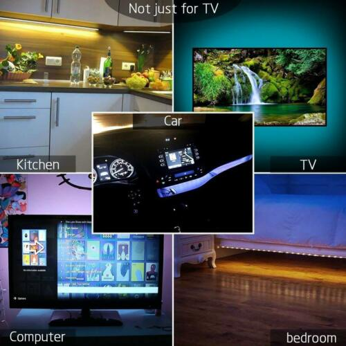 5V USB LED Strip Lights TV Back Light 5050 RGB Colour Changing with 24Key Remote 1