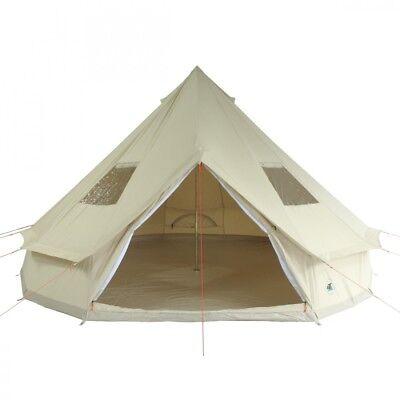 10T Camping-Zelt Desert, 10 Personen Tipi, Baumwoll-Pyramidenzelt, Familienzelt ()