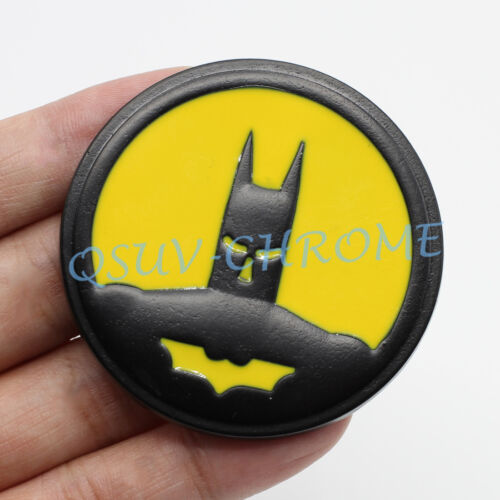Night Trips Metal BatMan Roundel Red Coated Emblem Badge Car Accessoy Sticker