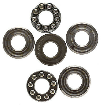2 Pcs 10 x 24 x 9mm 51100 Single Direction Thrust Ball Bearings N3