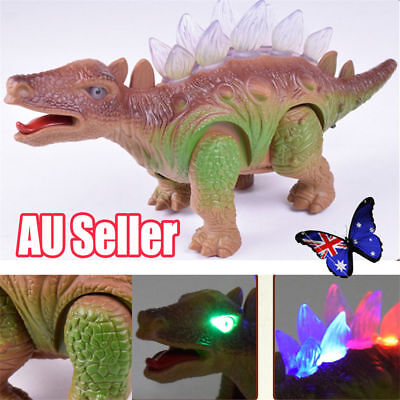 Light Up Dinosaur Remote Control Walking Robot Roaring Interactive Toy Gift ON