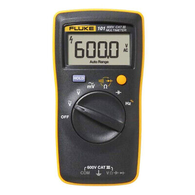 Fluke 101 Basic Digital Multimeter Portable Meter Ac Dc Volt Tester Us Only