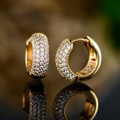 Sevil 18K Gold Plated Swarovski Elements Huggie Hoop Earrings