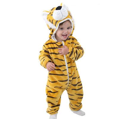 Kinder Baby Kostüm Tiger Hase Tieroutfit Cosplay Schlafanzug Karneval Fasching