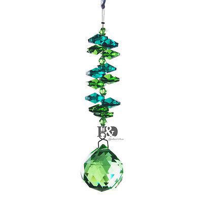Rainbow Maker Crystal Suncatcher Green Ball Prism ...