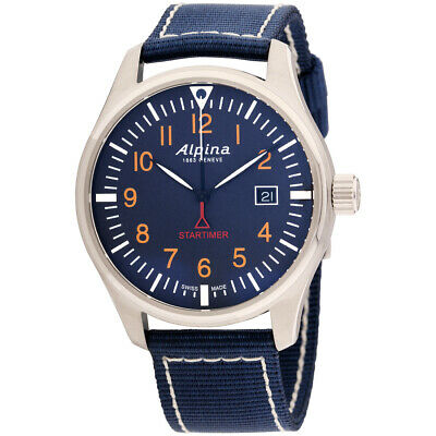Alpina Startimer Pilot Quartz Movement Blue Dial Men's Watch AL-240N4S6