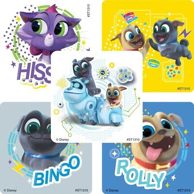 20 Puppy Dog Pals STICKERS Party Favors Supplies for Birthday Treat Loot Bags  - Puppy Party Supplies