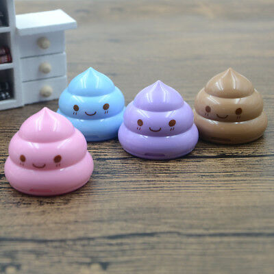 Funny Emoji Mini Stationery Lot Cute Poop Double Hole Pencil Sharpener
