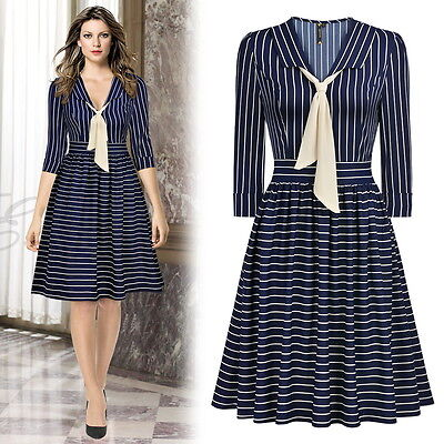 Women's Causal Striped Dress, Great for Causal outings and More!