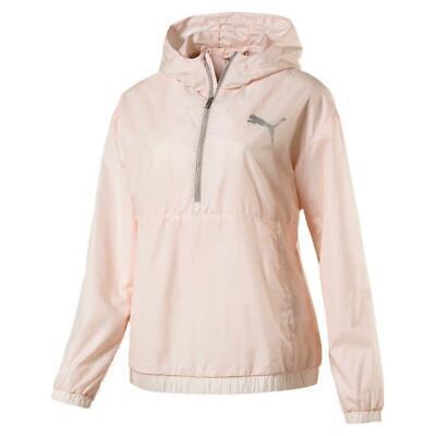 Puma Womens Spark 3/4 Zip Pearl Jacket Pink  (516420-05)