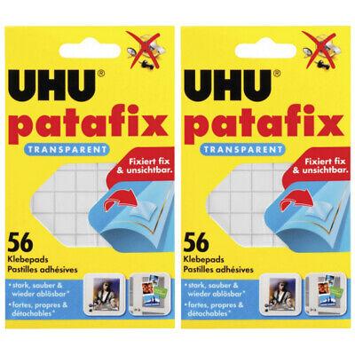 2 x Uhu Patafix transparent 56 Stück