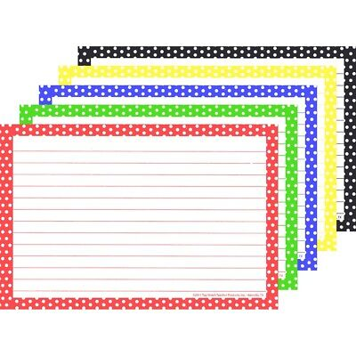 Top Notch Teacher Index Cards Ruled Primary Polka Dots 4x6