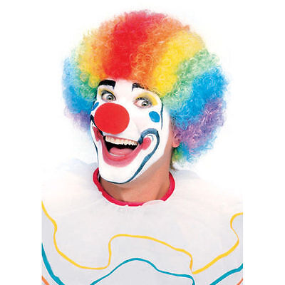 Multi-Colored Clown Adult Big Afro Costume Wig Funny Rainbow Hilarious Halloween](Hilarious Adult Halloween Costumes)