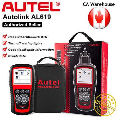 Autel AL619 ABS Airbag SRS Reset OBD2 Diagnostic Tool Car Code Reader Scanner CA