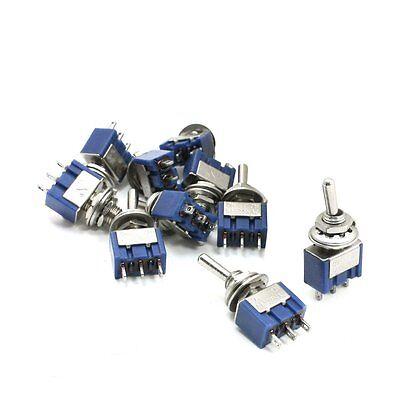 3-position Spst Latching Mini Toggle Switch 6a 125vac 3a 250vac 10pcs Lw