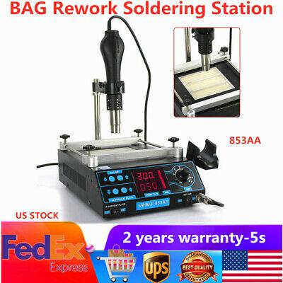 New 853aaa Bag Rework Soldering Station Solder Iron Smd Hot Air Gun Desoldering